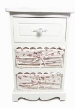 Assembled White 3 Chest of Drawers Hallway Bedside Table Storage Unit Cabinet